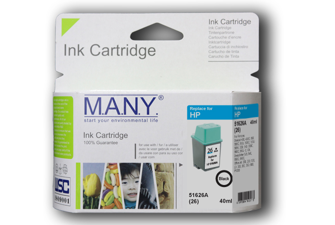 51626A #26  Black Compatible Ink
