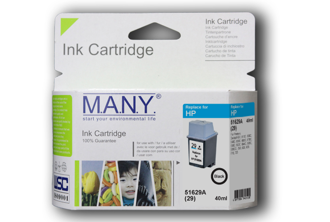 51629A #29  Black Compatible Ink