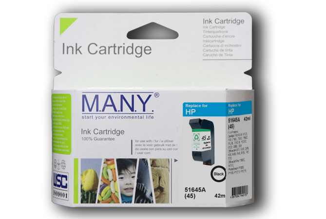 51645A #45 Black Compatible Ink